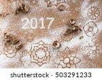 inscription 2017 written in... | Shutterstock . vector #503291233