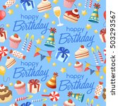 happy birthday elements  ... | Shutterstock .eps vector #503293567