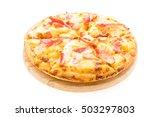 pizza hawaiian seafood on... | Shutterstock . vector #503297803