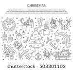 winter holiday decorations. new ... | Shutterstock .eps vector #503301103
