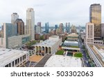 Small photo of NEW YORK CITY - OCT. 8, 2016: Lincoln Center for the Performing Arts from above and the surrounding builds of Hell's Kitchen and the Upper West Side