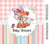 baby shower greeting card with... | Shutterstock .eps vector #503310223