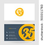 number thirty five 35 logo  35...   Shutterstock .eps vector #503311783