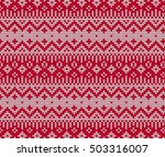 winter seamless geometric... | Shutterstock . vector #503316007