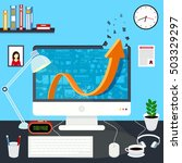 flat concept illustration of... | Shutterstock .eps vector #503329297