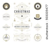 christmas labels and badges... | Shutterstock .eps vector #503335477