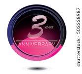 3 years anniversary logo with... | Shutterstock .eps vector #503338987
