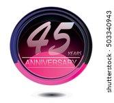 45 years anniversary logo with... | Shutterstock .eps vector #503340943