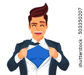 handsome young man in a... | Shutterstock .eps vector #503350207