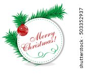 christmas white circle banner... | Shutterstock .eps vector #503352937