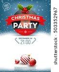 christmas party retro poster | Shutterstock .eps vector #503352967