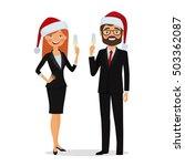 congratulations on christmas...   Shutterstock .eps vector #503362087