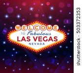 vector las vegas sign against... | Shutterstock .eps vector #503372353