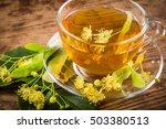 green herbal tea with linden... | Shutterstock . vector #503380513