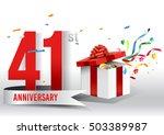 41 years anniversary background ...   Shutterstock .eps vector #503389987