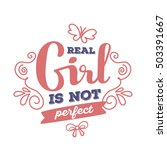 real girl is not perfect   red... | Shutterstock .eps vector #503391667
