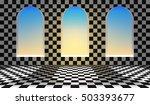 wonderland background.chess... | Shutterstock .eps vector #503393677