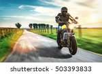 motorbike on the road riding.... | Shutterstock . vector #503393833