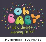 funny baby shower letters | Shutterstock .eps vector #503406463