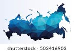 polygonal map of russia | Shutterstock .eps vector #503416903