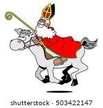 Sinterklaas On A Horse