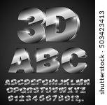 3d isometric alphabet vector...   Shutterstock .eps vector #503423413