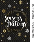 season's greetings. holiday... | Shutterstock .eps vector #503431873