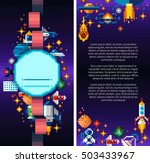 space icons composition in... | Shutterstock .eps vector #503433967