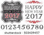 handwritten vintage numbers.... | Shutterstock .eps vector #503439457