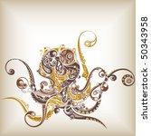 abstract octopus   Shutterstock .eps vector #50343958