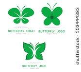 beauty butterfly logo icon... | Shutterstock .eps vector #503444383