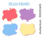 vector frame with blob drops.... | Shutterstock .eps vector #503452603