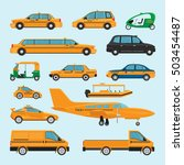 taxi different types. vector... | Shutterstock .eps vector #503454487