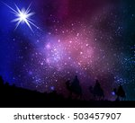 three wise men on the... | Shutterstock .eps vector #503457907