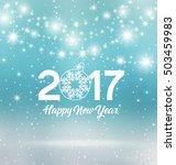 happy new year 2017  vector...   Shutterstock .eps vector #503459983
