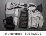 stylish men's warm clothing and ... | Shutterstock . vector #503463373