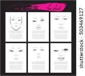 set face chart makeup artist...   Shutterstock .eps vector #503469127