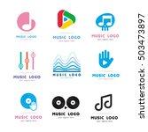 music play bone equalizer... | Shutterstock .eps vector #503473897