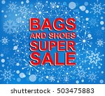 big winter sale poster with...