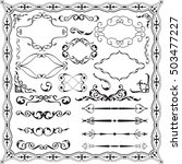 baroque ornate swirl set is on... | Shutterstock .eps vector #503477227