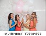 hen party. girl in the studio... | Shutterstock . vector #503484913