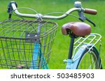 Bike Blue On A Rural Grass ...