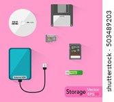 external storage   external...   Shutterstock .eps vector #503489203