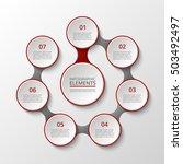 infographics template for... | Shutterstock .eps vector #503492497