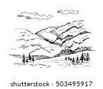 vector hand drawn illustration  ...   Shutterstock .eps vector #503495917