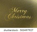 merry christmas gold glittering ...   Shutterstock .eps vector #503497927