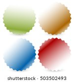 bright colorful button  badge... | Shutterstock . vector #503502493