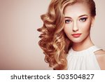 fashion portrait of young... | Shutterstock . vector #503504827