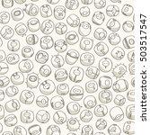 hand drawn little cute... | Shutterstock .eps vector #503517547