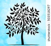 tree silhouette vector | Shutterstock .eps vector #503518297